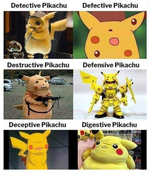 Otros - Las diferentes facetas de Pikachu