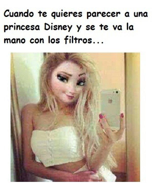 Meme_otros - Algunas se pasan tres pueblos queriendo ser princesas Disney...