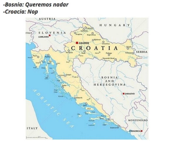 Otros - A los croatas no les apetecía que los bosnios tuvieran playa