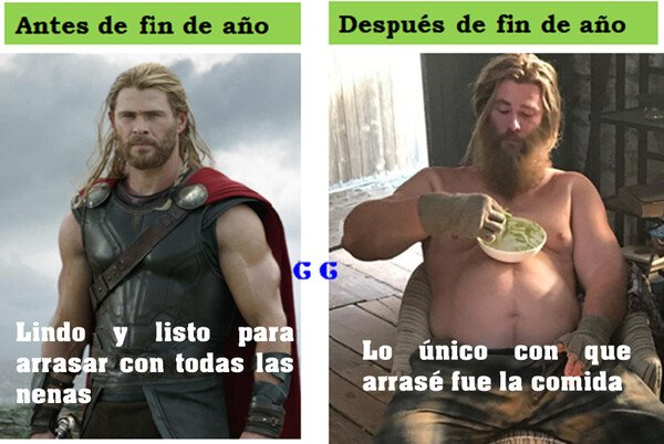 Meme_all_the_things - Thor después de fin de año