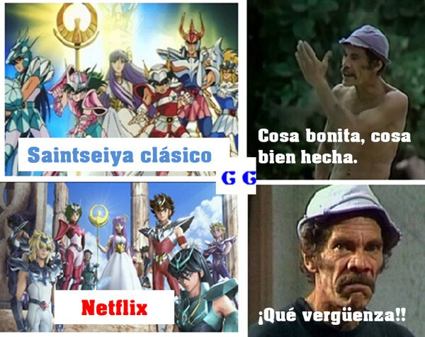 Meme_all_the_things - Don Ramón critica saint seiya de Netflix