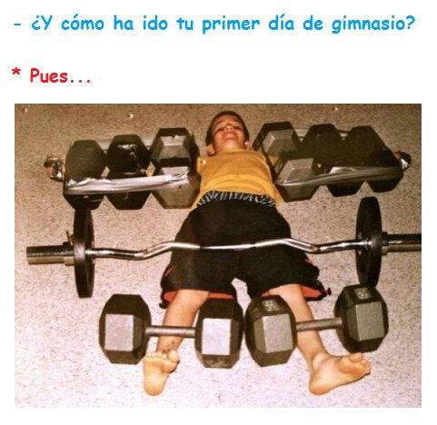 Oso_confesiones - Nunca es fácil tu primer día de gimnasio...