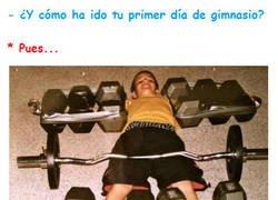 Enlace a Nunca es fácil tu primer día de gimnasio...