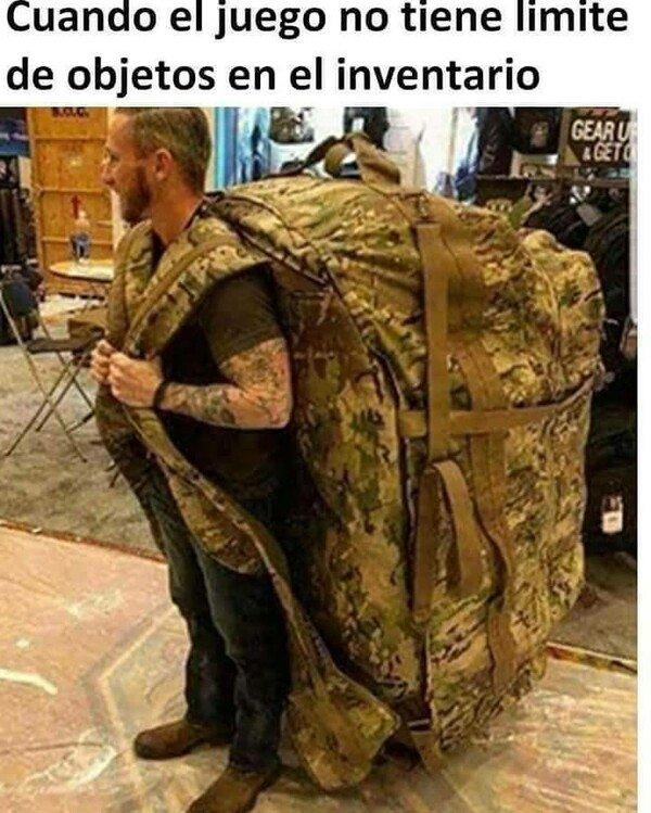 Otros - Puedo llevar tantas cosas como quiera en mi mochila