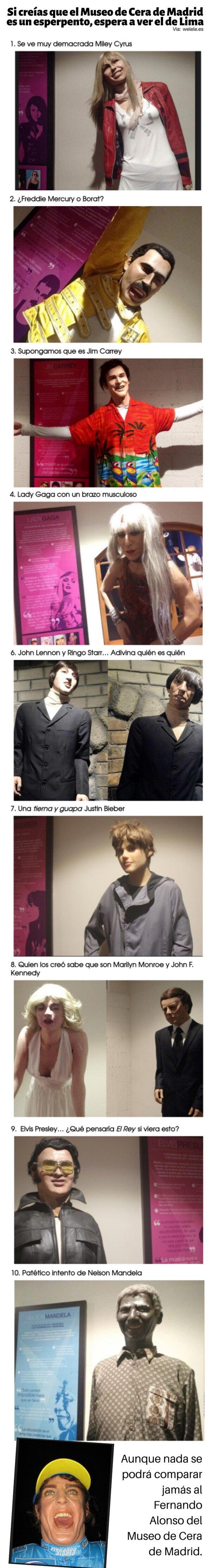 Meme_otros - Si creías que el Museo de Cera de Madrid es un esperpento, espera a ver el de Lima