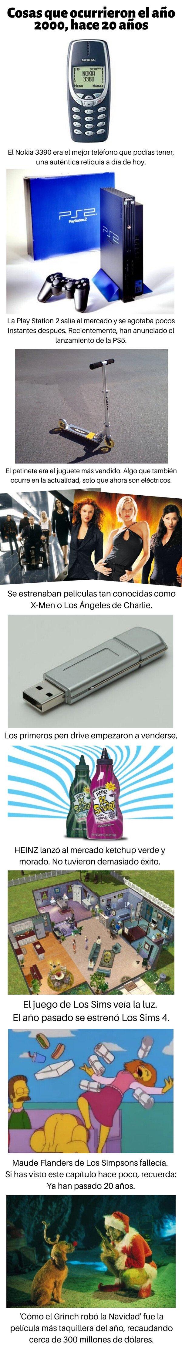 Meme_otros - Cosas que ocurrieron el año 2000, hace 20 años