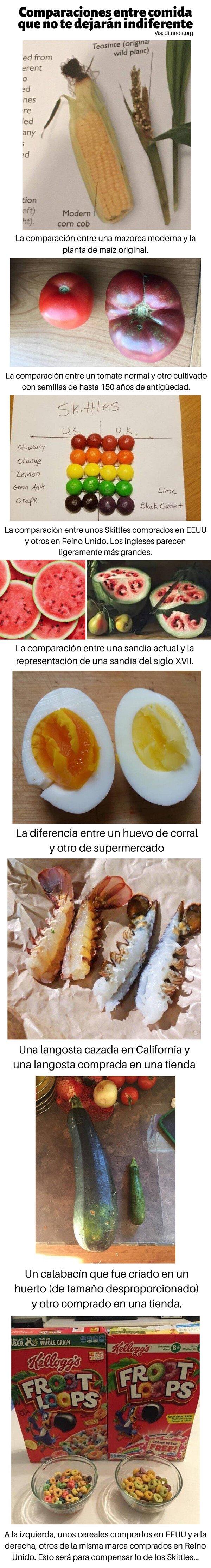 Meme_otros - Comparaciones entre comida que no te dejarán indiferente