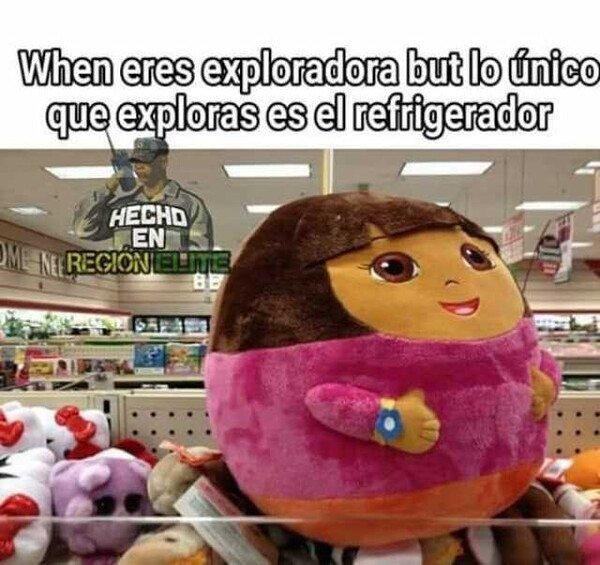 Meme_otros - A Dora ya no le queda mucho que explorar por ahí