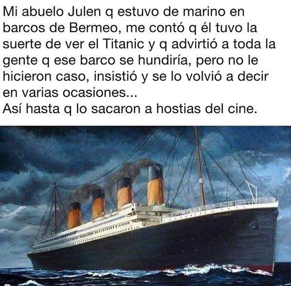 Otros - Mi abuelo ya sabía lo del Titanic