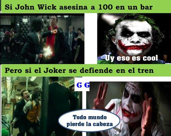 Meme_all_the_things - John Wick vs el Joker