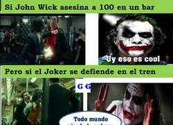 Enlace a John Wick vs el Joker