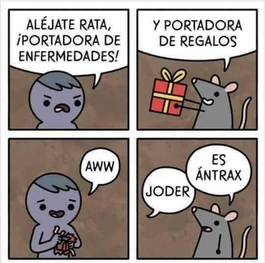 Meme_otros - Las ratas nunca portan nada bueno