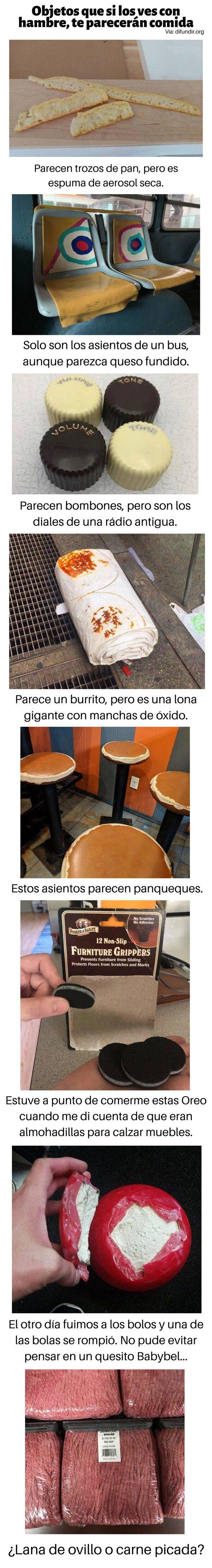 Meme_otros - Objetos que si los ves con hambre, te parecerán comida