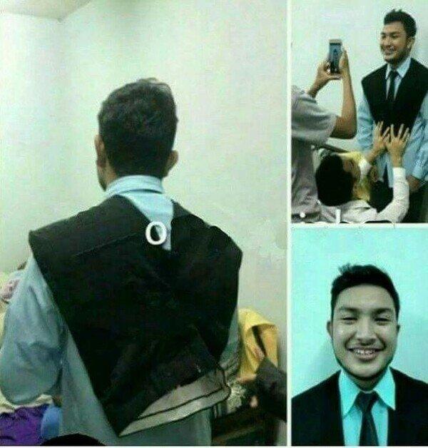 Meme_otros - Un truco para salir de traje en una foto sin tener traje