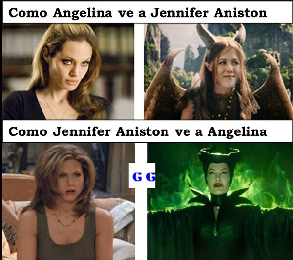 Meme_all_the_things - Como Aniston ve a Jolie