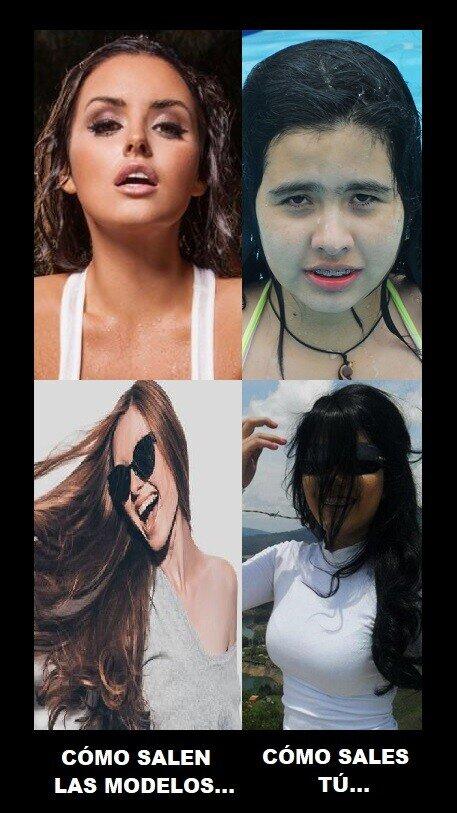 Meme_otros - Tus fotos nunca saldrán tan bien como las modelos de la TV...