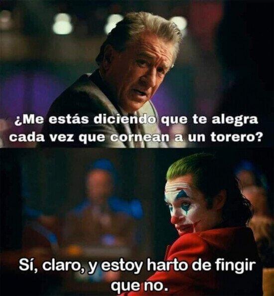 cornada,Joker,torero,toro