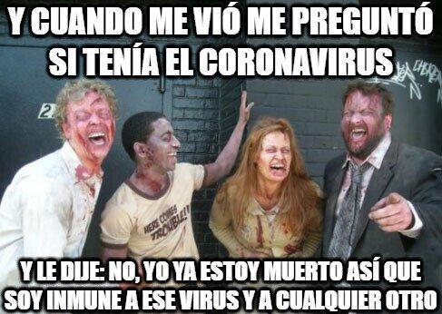 Zombie - La ventaja de ser un zombie, que ya no se puede contagiar con ningún virus...