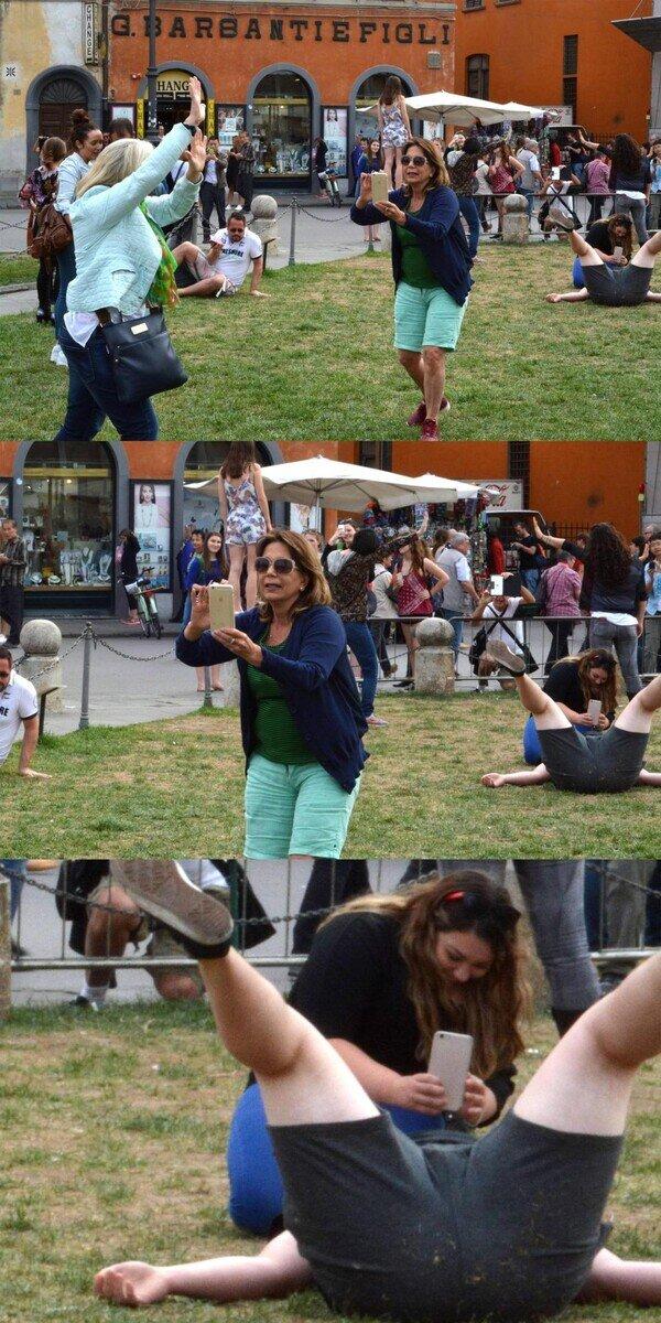 Meme_otros - Diferentes maneras de fotografiarse con la Torre de Pisa