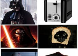 Enlace a La evolución de Anakin/Darth Vader comparada con una tostada