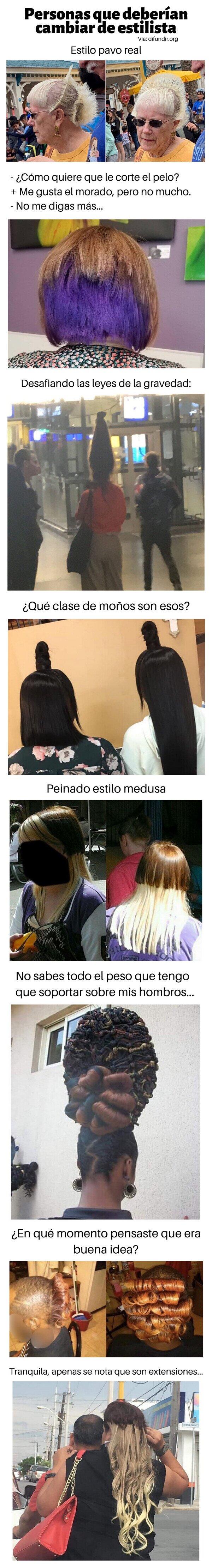 Meme_otros - Personas que deberían cambiar de estilista
