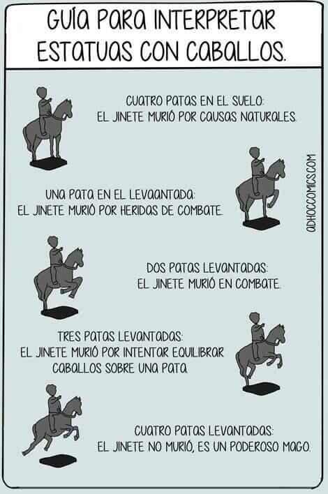 Meme_otros - Guía para interpretar esculturas con caballos