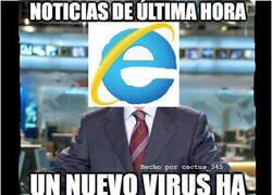 Enlace a Si Internet Explorer diera las noticias