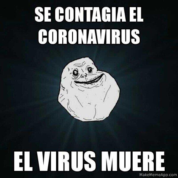 Meme_forever_alone - Los virus ni tocarlo quieren