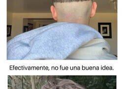 Enlace a Personas que intentaron cortarse el pelo a sí mismas