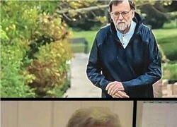 Enlace a Rajoy saliendo en plena cuarentena