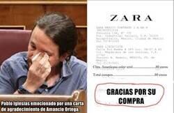 Enlace a Pablo Iglesias emocionado por una carta de agradecimiento, otra vez...