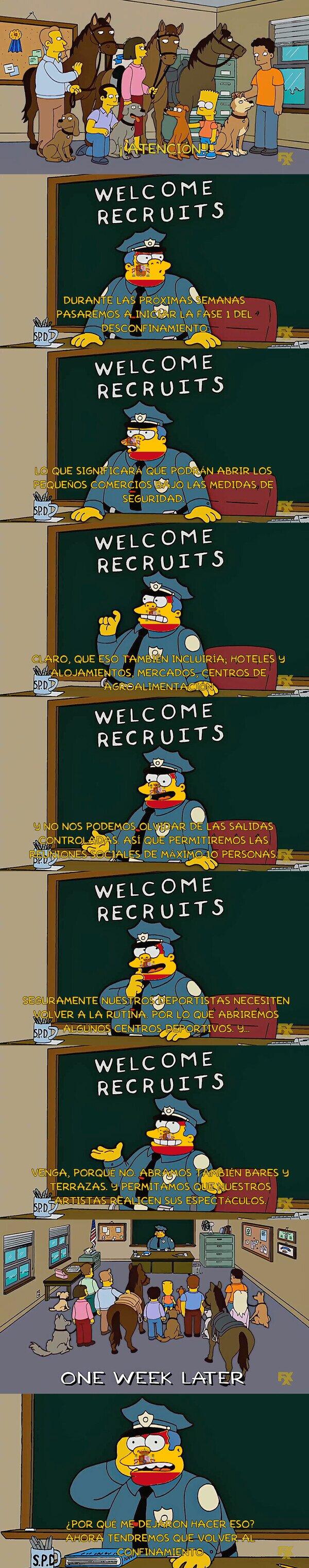 Otros - Los Simpson y su predicción sobre el desconfinamiento..