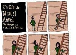 Enlace a Pintar la Capilla Sixtina no fue tarea fácil...