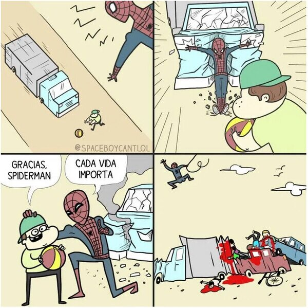 niño,salvar,spiderman,vida