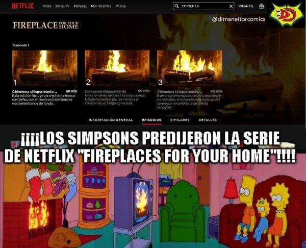 chimenea,fireplace,netflix,predicciones,simpson,simpsons