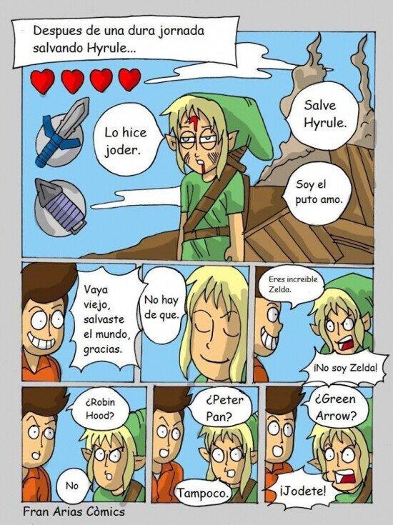 Meme_otros - Pobre Link, nunca nadie recuerda su nombre...