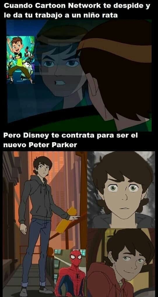 Ben 10,despedir,empleo,niño,spiderman
