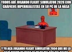 Enlace a Los posers de flight simulator