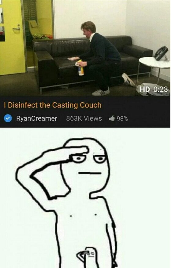 Meme_otros - Un profesional desinfecta cada vez que participa en un Casting