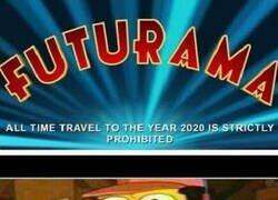 Enlace a Futurama (del mismo creador que Los Simpson) ya predijo que el 2020 sería un año chungo