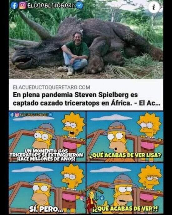cazar,simpson,Steven Spielberg,triceratops