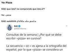 Enlace a La RAE no entiende de pizzas