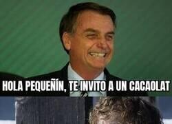 Enlace a Bolsonaro y sus despistes...