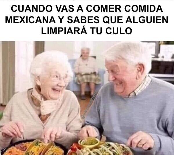 abuelos,comida,culo,limpiar,mexicana,picante