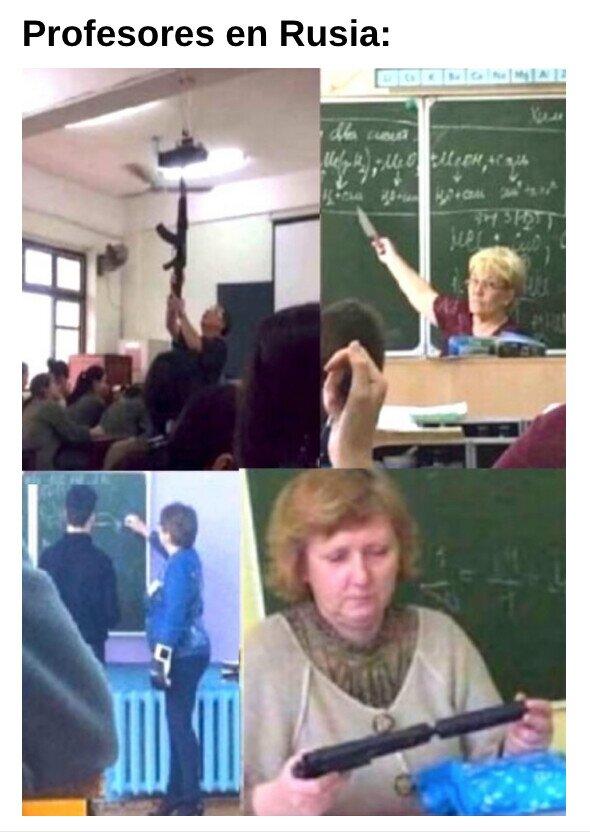 Meme_otros - En Rusia aprendes a la fuerza