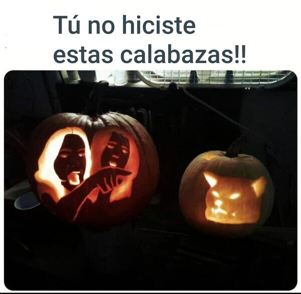 calabaza,gato,Halloween,meme
