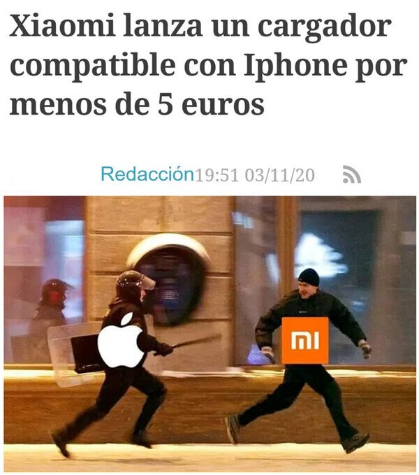 apple,cargador,móviles,troll,xiaomi