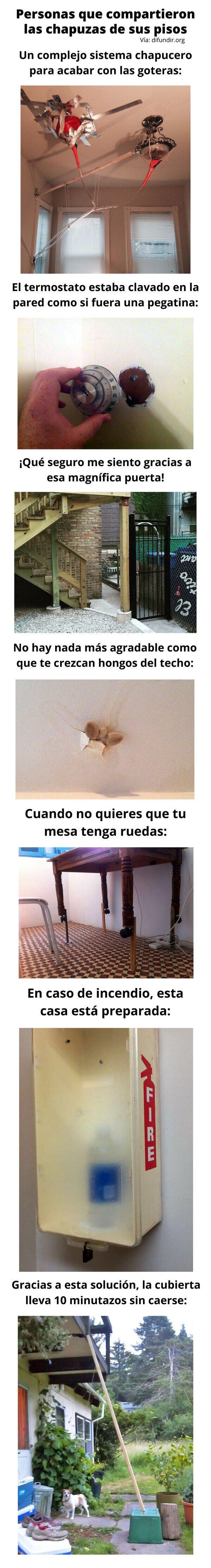 Meme_otros - Personas que compartieron las chapuzas de sus pisos