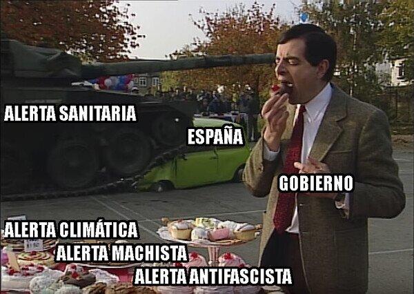 coronavirus,covid,españa,gobierno,mr bean,tanque