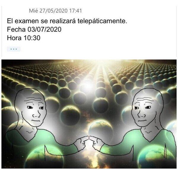 Meme_otros - En mi cabeza haré en un examen de diez